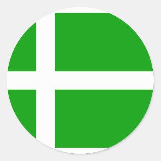 Barra, de vlag van het Verenigd Koninkrijk Ronde Sticker