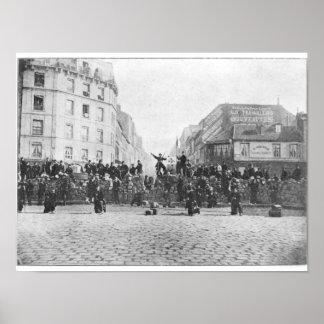 Barricade in Faubourg heilige-Antoine Poster