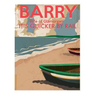 Barry, Poster van de Reis van Wales het Vintage Briefkaart