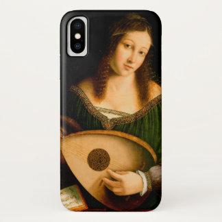 Bartolomeo Veneto Dame Playing Lute Portrait Art iPhone X Hoesje