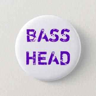Bas Hoofdknoop (paarse tekst) Ronde Button 5,7 Cm