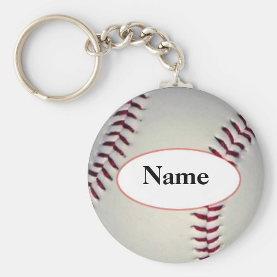 Baseball with your name on it sleutelhanger