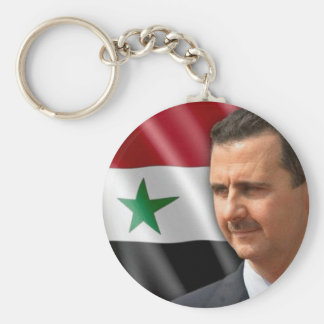 Bashar al-Assad بشارالاسد Basic Ronde Button Sleutelhanger
