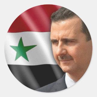 Bashar al-Assad بشارالاسد Ronde Stickers
