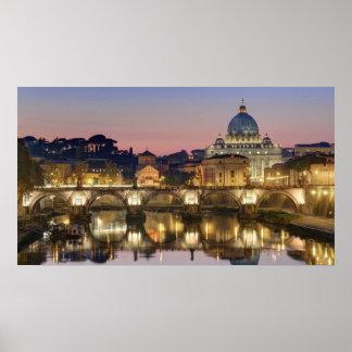 Basilica Di San Pietro Rome Italië Poster