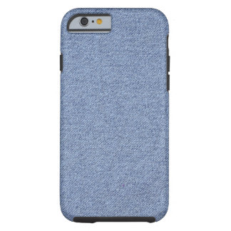 Basis Kleuren Blauw Jean Tough iPhone 6 Hoesje