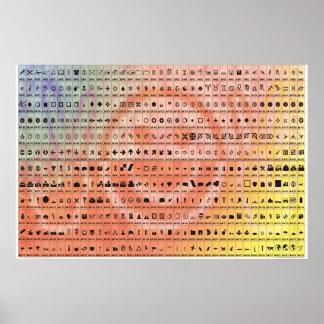 Basis Symbolen Poster
