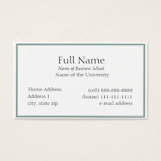 Basis Visitekaartje voor Studenten of Bedrijf Visitekaartjes