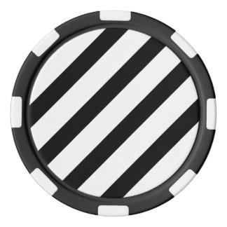 Basis Zwart-witte Streep 1 Pokerchips