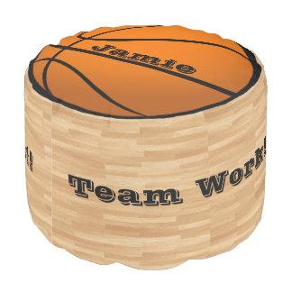 Basketbal het Decor van de Zaal van Uw van de Naam Poef
