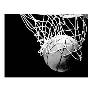 Basketbal in de Verticale Briefkaarten van de Briefkaart