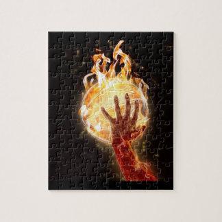 Basketbal op het Raadsel van de Brand met de Doos  Foto Puzzels