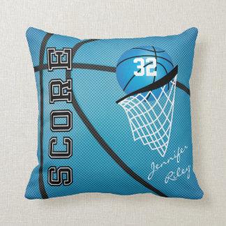 Basketbal | van de Sport van het baby Blauw Naam Sierkussen