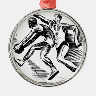 basketbal zilverkleurig rond ornament