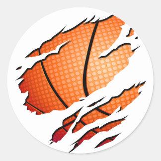 basketball ronde sticker