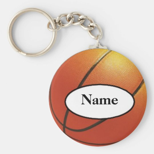 basketball with your name on it sleutelhanger