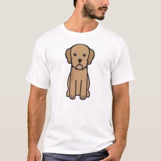 Basset de Cartoon van de Hond van Fauve DE T Shirt