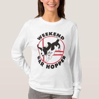 Basset de Vultrechter van de Bar van het Weekend T Shirt