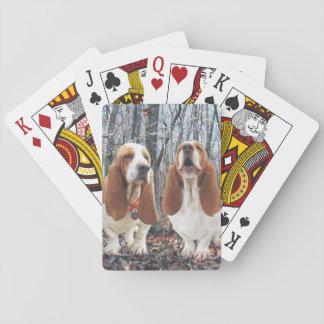 Basset Honden in het Bos Speelkaarten