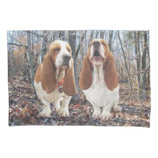 Basset Honden in het Hoesje van het Hoofdkussen Kussensloop