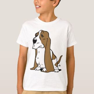 Basset hondencartoon t shirt