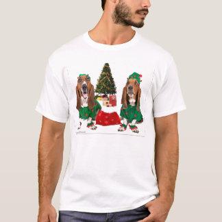 Basset van de kerstman de Overhemden van Elf T Shirt