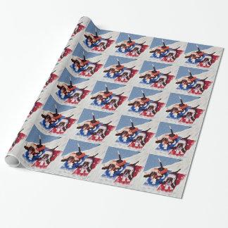 Basset van de winter honden inpakpapier