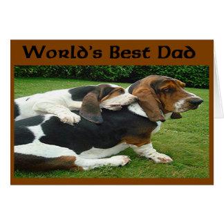 Basset van het vaderdag de Beste Papa van de Wenskaart