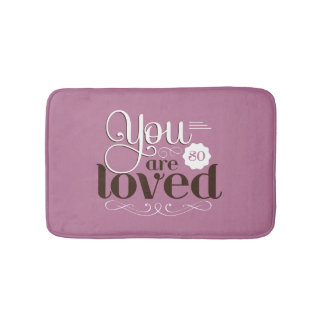 Bathmat Vintage Quote You Are So Loved Romantic Badmatten