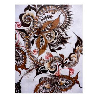batik no.4 collectie briefkaart