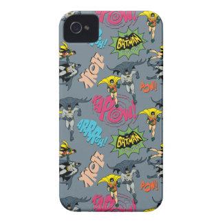 Batman en Robin Action Pattern iPhone 4 Hoesjes