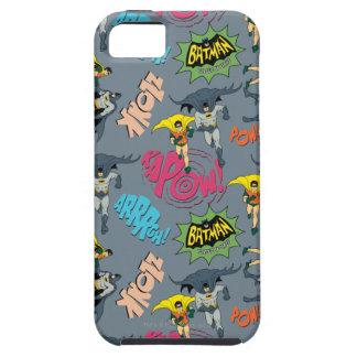 Batman en Robin Action Pattern iPhone 5 Case-Mate Hoesje