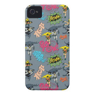 Batman en Robin Action Pattern iPhone 4 Case-Mate Hoesjes