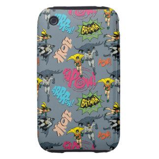 Batman en Robin Action Pattern iPhone 3 Hoesje