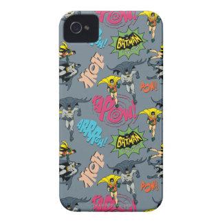 Batman en Robin Action Pattern iPhone 4 Hoesje