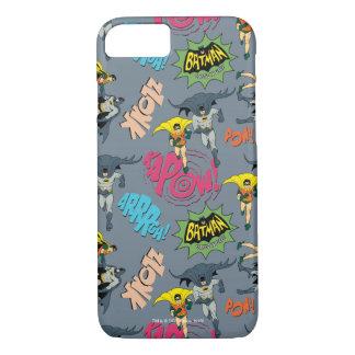 Batman en Robin Action Pattern iPhone 7 Hoesje
