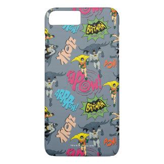 Batman en Robin Action Pattern iPhone 7 Plus Hoesje