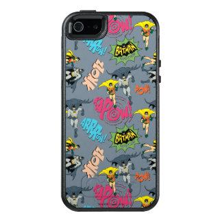 Batman en Robin Action Pattern OtterBox iPhone 5/5s/SE Hoesje