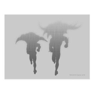 Batman en Robin Halftone Gradient Briefkaart