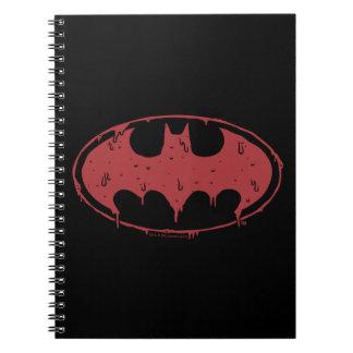 Batman | het Afscheiden het Rode Logo van de Notitieboek