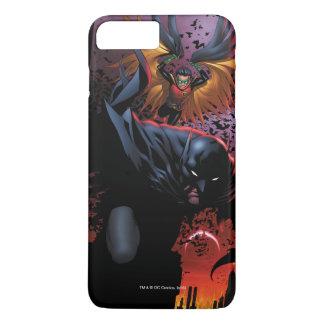 Batman & Robin Flight over Gotham iPhone 8/7 Plus Hoesje