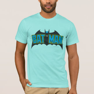 Batman | Vintage Blauw Zwart Logo T Shirt