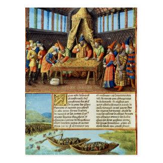 Bayezid I die het losgeld ontvangen Briefkaart