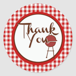 BBQ Bedankt Ronde Sticker