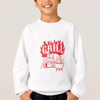 BBQ de Chef-kok draagt Retro Grill Gator Trui