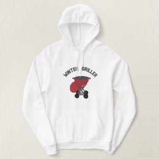 BBQ de Grill van de Houtskool van de Roker - Geborduurde Sweater Hoodie