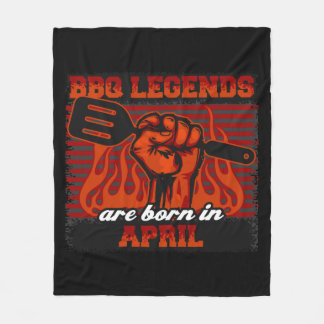 BBQ de Legenden zijn Geboren in April Fleece Deken