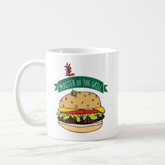 BBQ de Meester van de Hamburger van de Grill Koffiemok