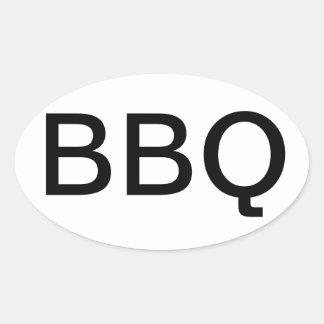 BBQ DE OVALE STICKER VAN DE BUMPER