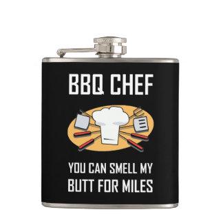 BBQ de Uiteinden van de Geur van de Chef-kok Heupfles